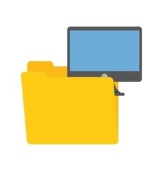 Folder data computer screen device technology vector