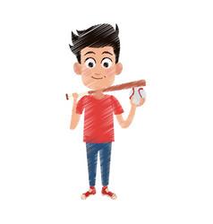 Happy young boy icon image vector