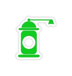 Icon sticker realistic design on paper pepper mill vector
