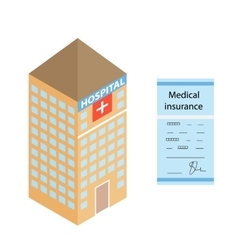 Isometric medical hospital the form of health vector