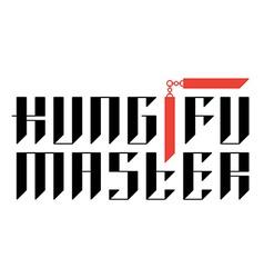 Kung fu master - t-shirt print with nunchucks vector