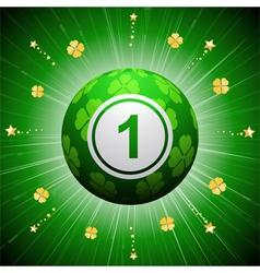 Lucky four leaf clover bingo ball vector