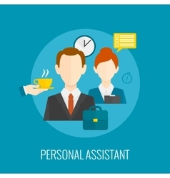 Personal assistant icon vector