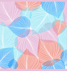 Seamless leaf background vector