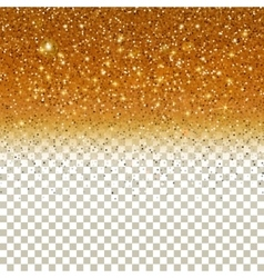 Shiny particles on golden background vector