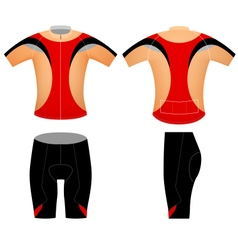 Sports cycling shorts vector