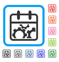 technical day framed icon vector image