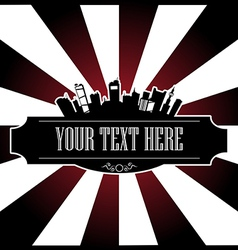 text city vector image vector image