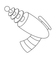 Weapons single icon in outline styleweapons vector