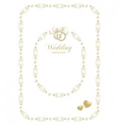 wedding ribbon frame vector image vector image