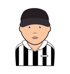 Referee man uniform icon vector