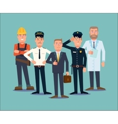 Professions people set flat vector