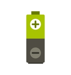 Battery icon flat style vector