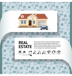 house facade car and real vector image