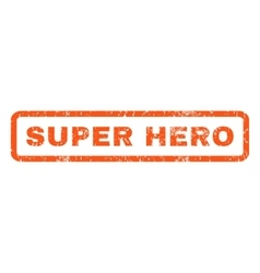 Super hero rubber stamp vector