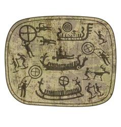 shamanic petroglyph vector image