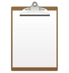Clipboard and paper vector