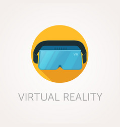 Vr headset icon virtual reality glass flat style vector
