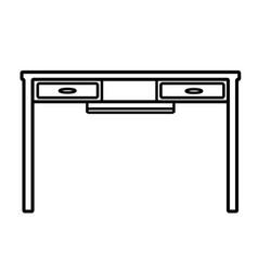 Desk icon vector