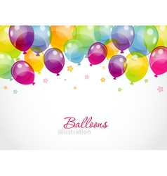 Background with colorful balloons vector