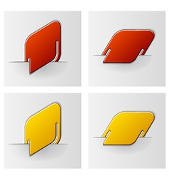 Rounded rhombus attached labels vector