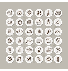 Set of school icons for your design vector