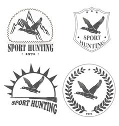 HUNTING SPORT vector image