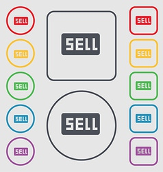 Sell contributor earnings icon sign symbol on the vector
