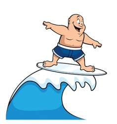 Cartoon surfer vector
