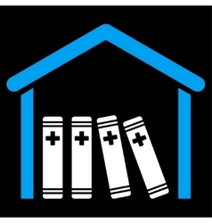 Medical library icon vector