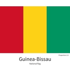 National flag of guinea-bissau with correct vector