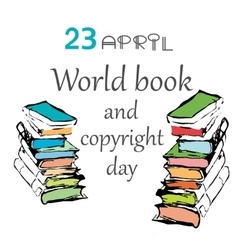 World book and copyright vector