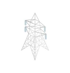 Pylon power icon isometric 3d style vector image