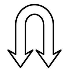 Back arrows stroke icon vector