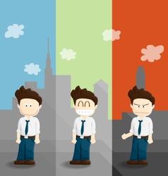 Emotion salary man cartoon lifestyle vector