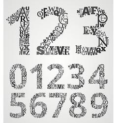 Alphabet numbers set vector