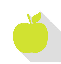 apple sign pear icon with flat style vector image