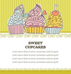 background cupcakes vector image