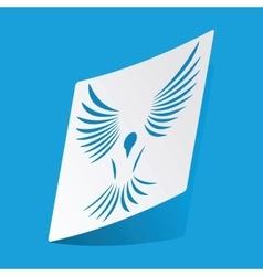 Bird sticker vector