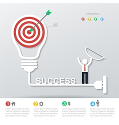 business concept infographics vector image