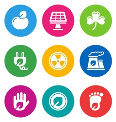 Color environmental icons vector