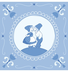 Delft blue children vector