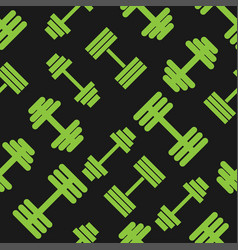 Dumbbell green pattern seamless flat style for web vector