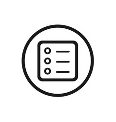 Form line icon with a circle on a white background vector