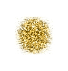 Gold glitter circle texture isolated on background vector image