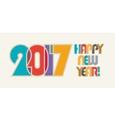 Happy new year cheerful and beautiful inscription vector