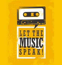 let the music speak vector image