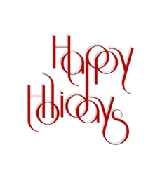Merry Christmas interlaced lettering vector image vector image