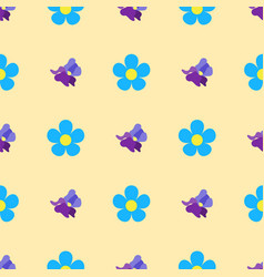 Nature flower seamless pattern vector