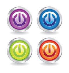 On Button vector image